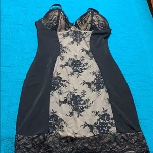 Black Lace Spandex Marylyn Shaperwear Size 1X